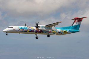Un look fresco y con arte para éste De Havilland Q400 #FlyingIsAnArt